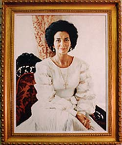 Former First Lady of Texas Painting Large